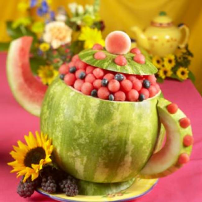 Watermelon Tea Pot {Edible Decor}
