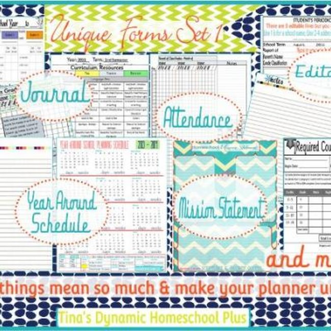 Set of Homeschool Curriculum Printables {Homeschool}