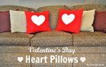 Valentine's Day Heart Pillows