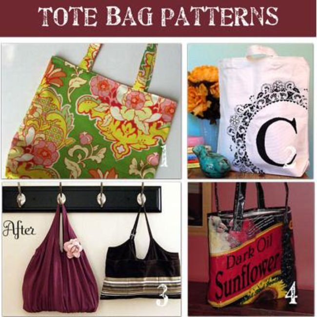 How to Make a Tote {8 beautiful free tote patterns}