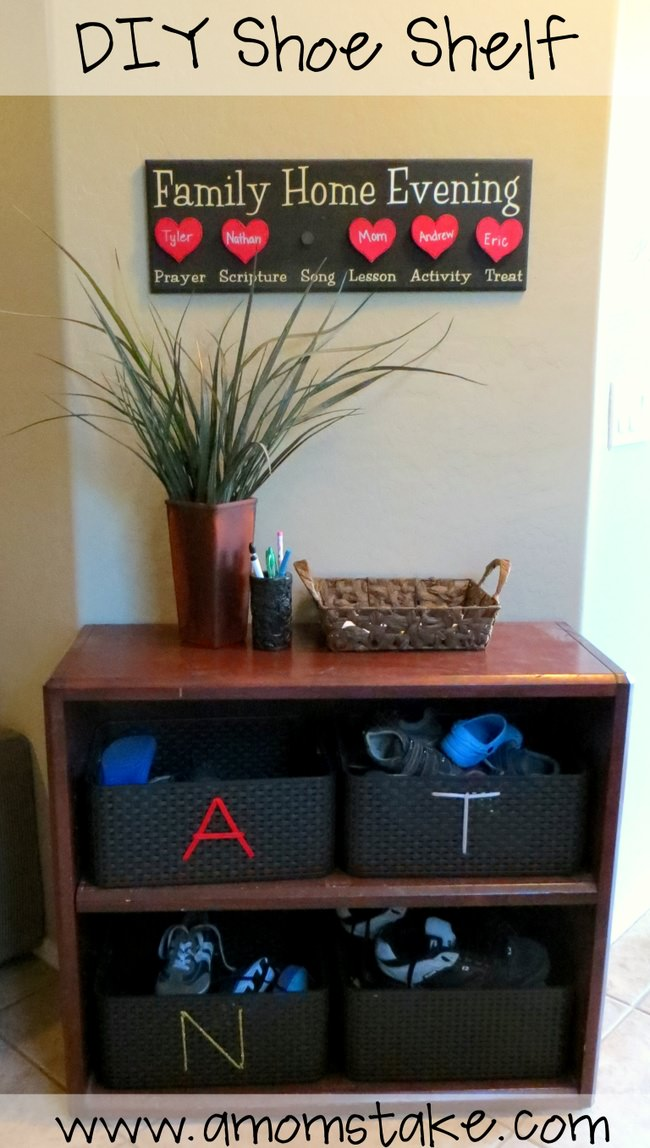 DIY Easy Shoe Storage Solution!
