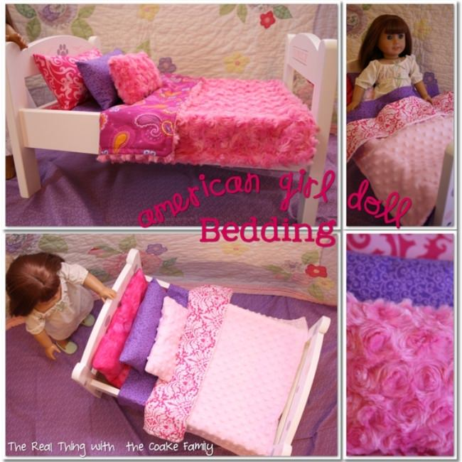American Girl Doll Bedding Pattern {Tutorial}