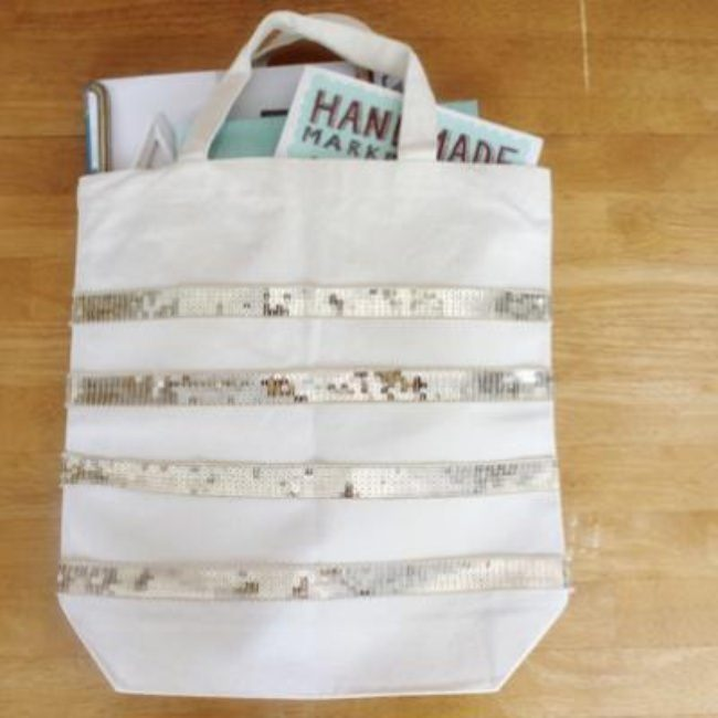 DIY Sequin Tote {Accessories}
