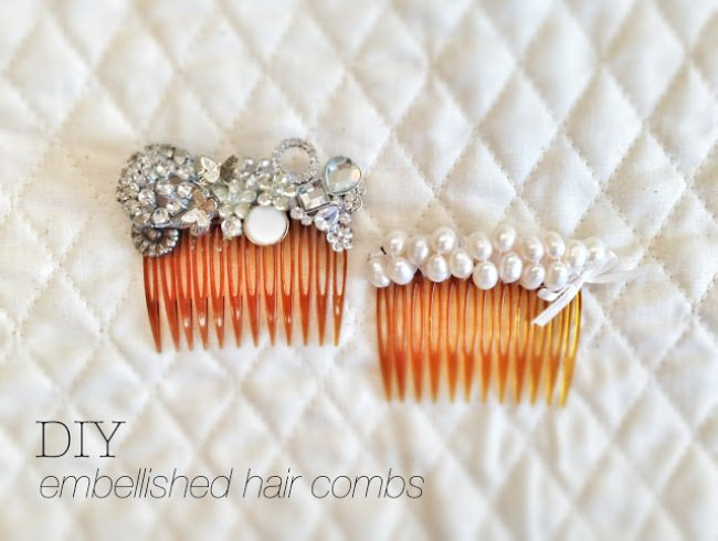 Pearl Embellished Hair Comb {diy}