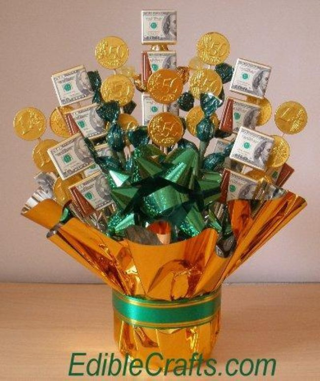 How to make a Money Candy Bouquet