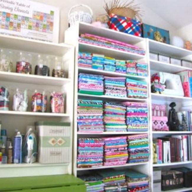 Sewing Room Organization {Craft & Sewing Room}