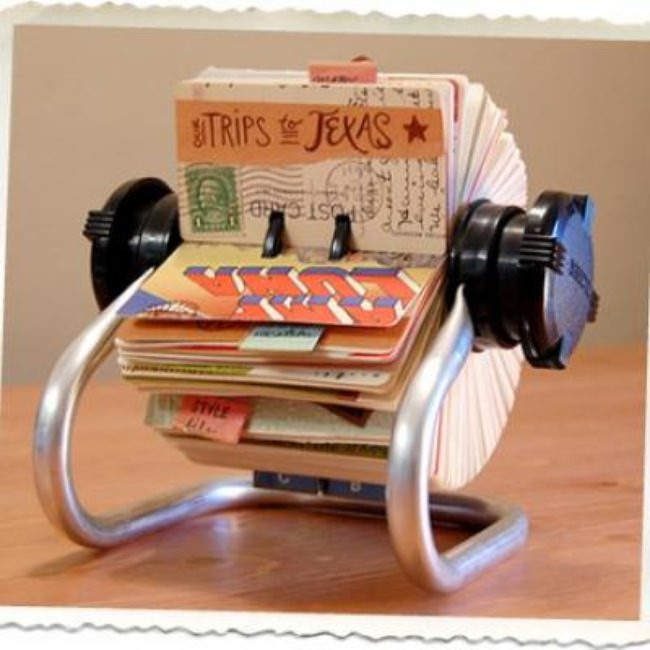 Rolodex Travel Scrapbook {Travel Memorabilia}
