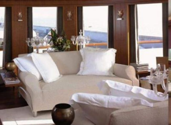 White Decor Yacht Interior {yacht design}