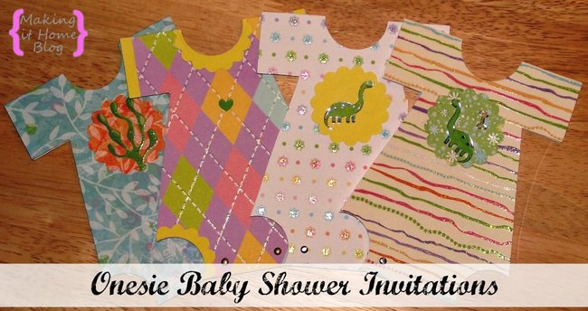 Onesie Baby Shower Invitations Tutorial