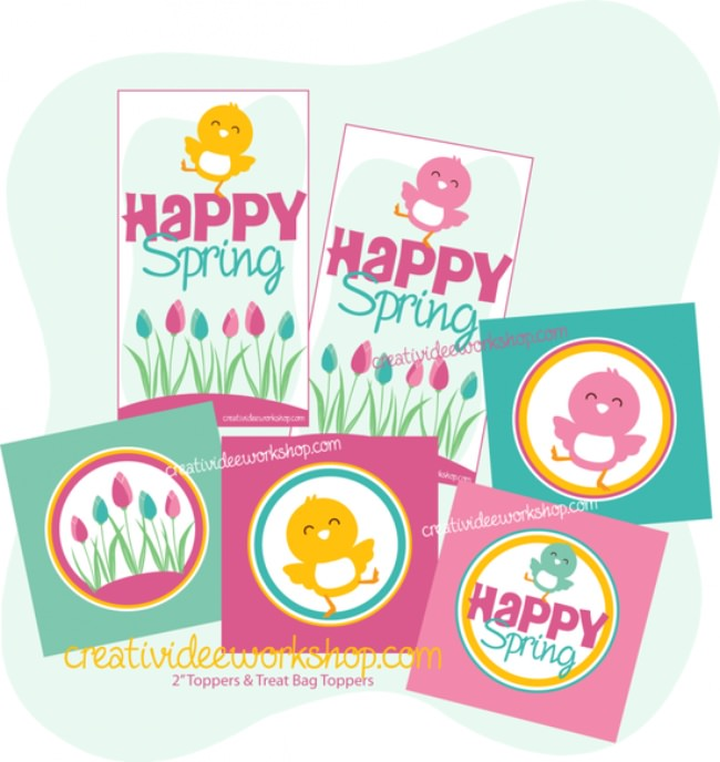 Happy Spring Free Printables!