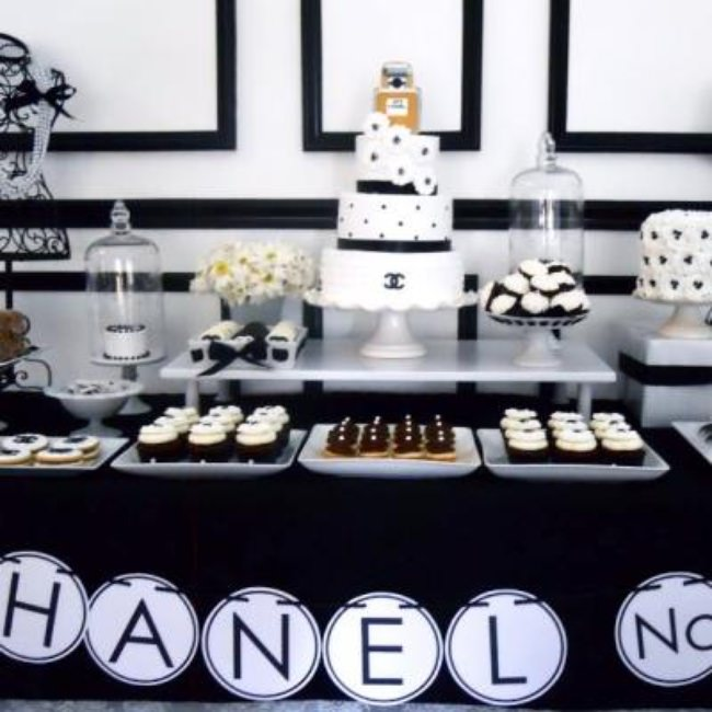 Chanel No. 30 Dessert Table {30th birthday celebration ideas}