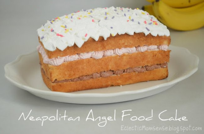 Neapolitan Angel Food Cake