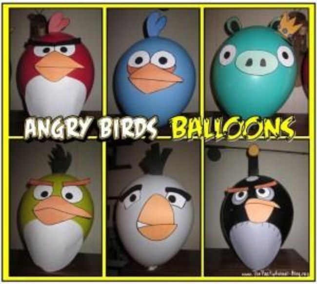 Angry Bird Balloon Printables
