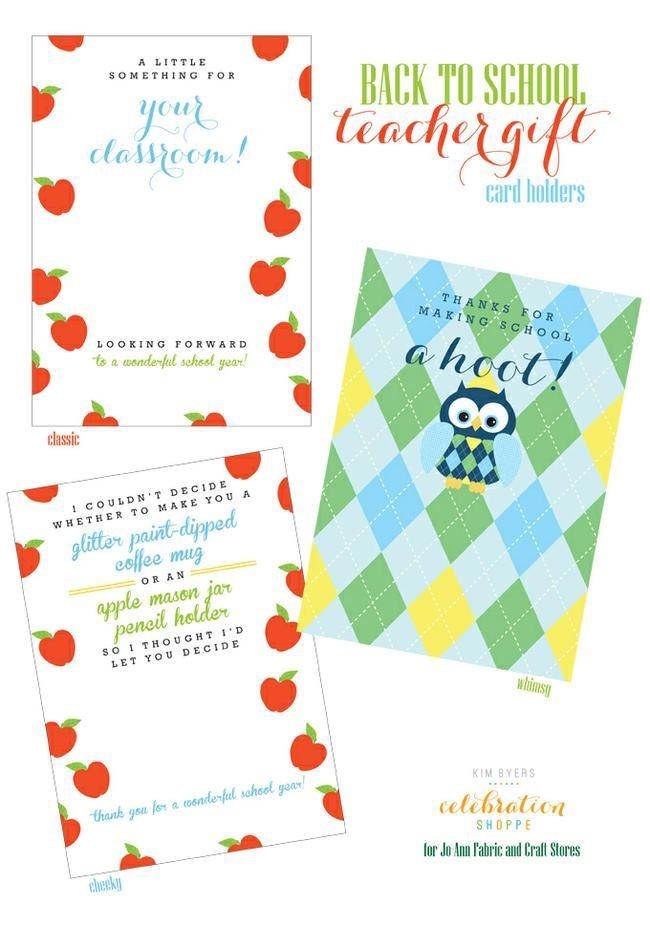 Back to School Teacher Gift Card Holders