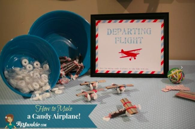How to Make a Candy Airplane Craft