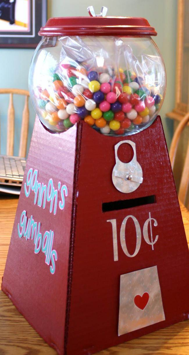 Gumball Machine Valentine Holder