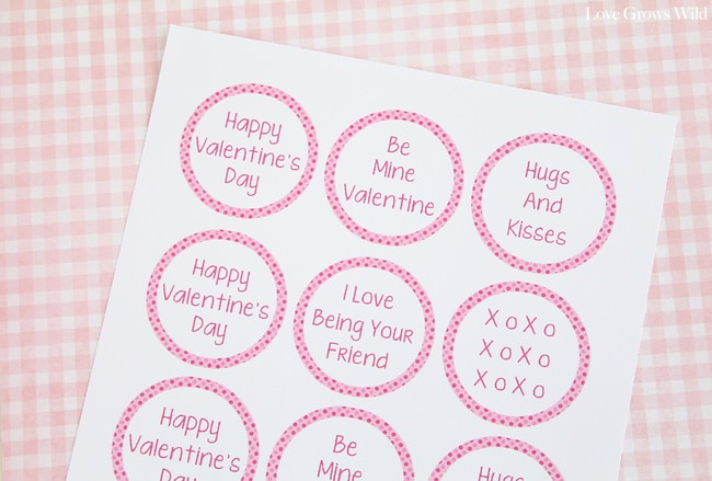 Printable Valentine Cupcake Toppers for Boys & Girls