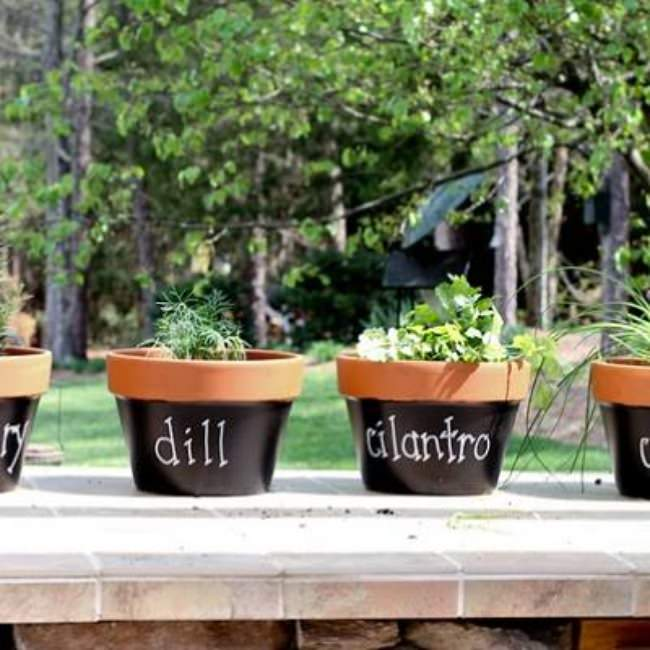 How to Make Chalkboard Planters {inspired by Martha Stewart}