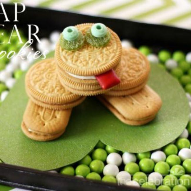 Leap Year Frog Cookies