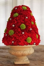 Red Carnation Christmas Tree