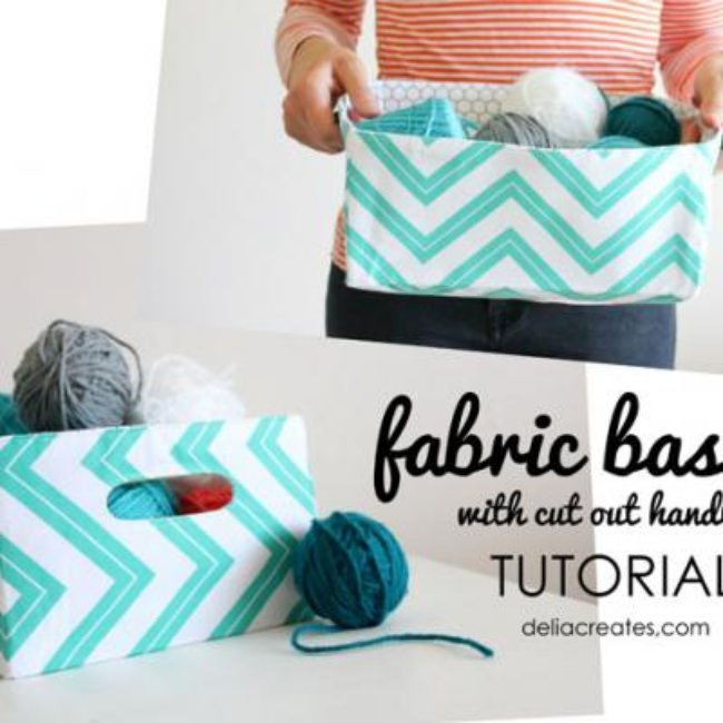 Fabric Basket Tutorial {Storage}
