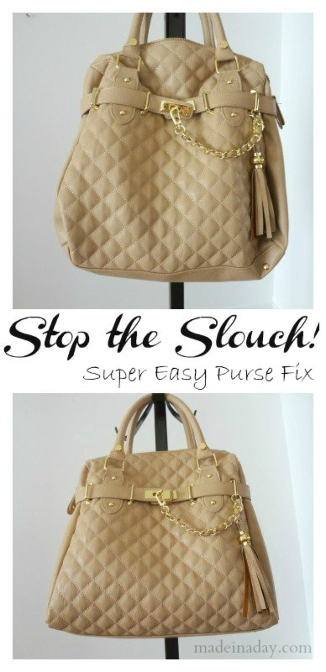 Quick Purse Fix -Stop the Slouch!
