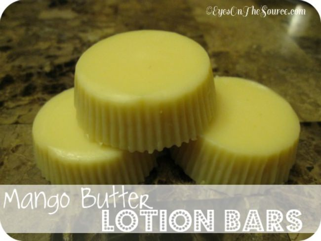 Mango Butter Lotion Bars in the Crockpot
