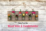Baby Food Jar Wood Vase & Candleholder
