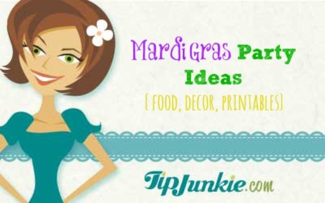 Mardi Gras Party Ideas {food, decor, printables}