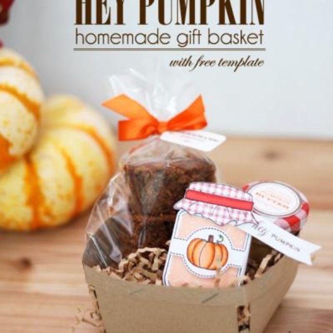 Homemade Gift Basket {free template}