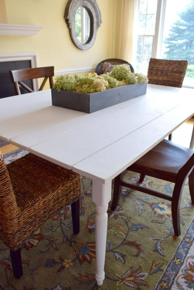 Building a Farmhouse Kitchen Table