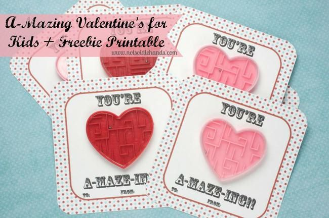 A-mazing Valentines Cards for Kids