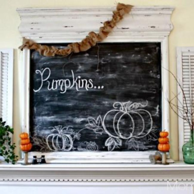Fall Mantel Decor {fall decorating ideas}