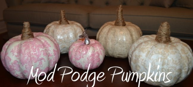 Mod Podge Pumpkin Tutorial