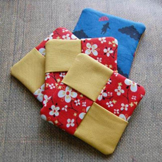 Tutorial: Fabric Coasters {Sewing Tutorial}