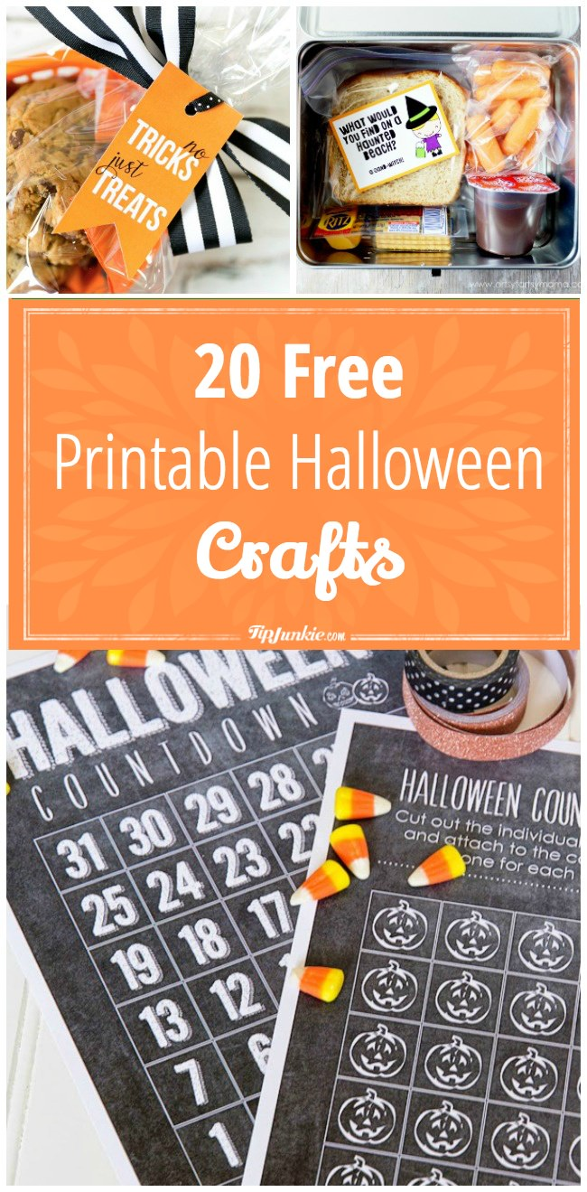 image relating to Free Printable Halloween Crafts named 20 Cost-free Printable Halloween Crafts Idea Junkie