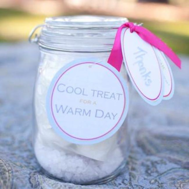 Ice Cream in a Mason Jar {party favors}