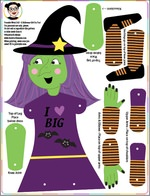 Free Printable Halloween Poseable Witch Doll