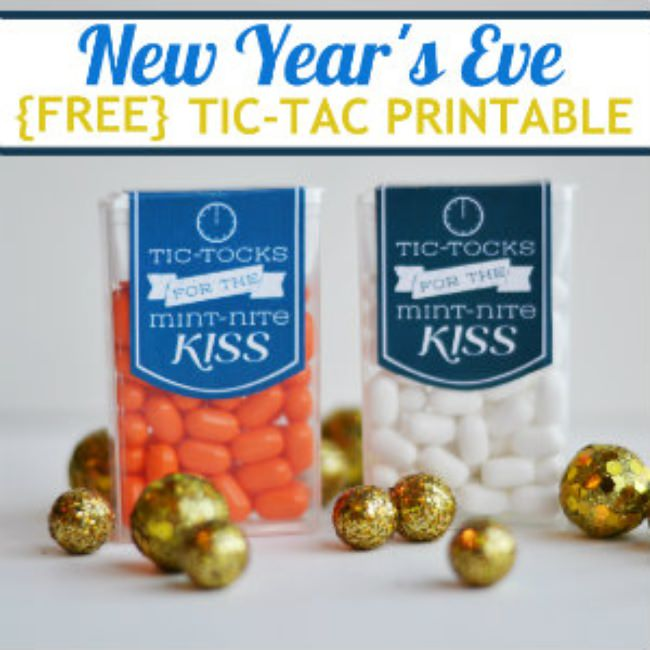 New Year's Eve Tic-Tac Printable