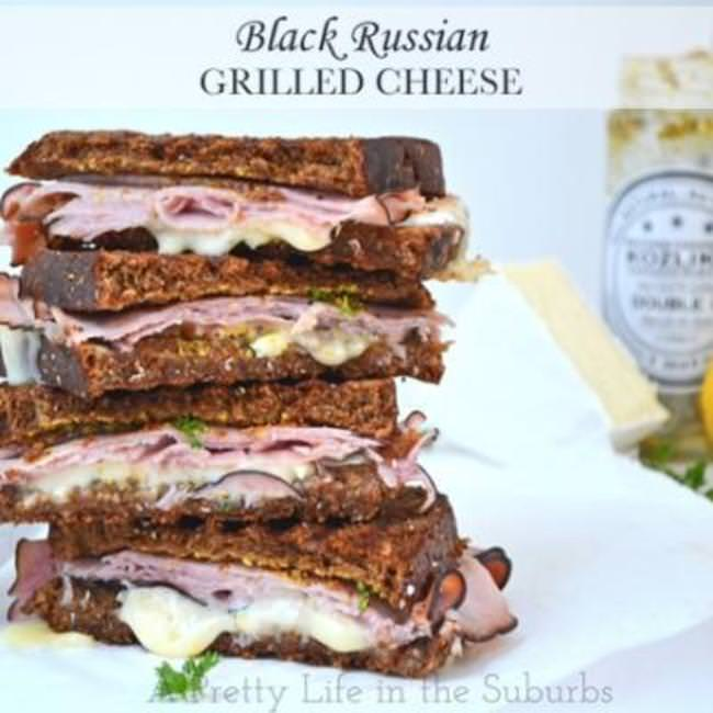 Black Russian Grilled Cheese Sandwiches