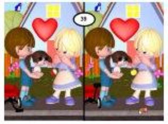Find the Differences Valentine Game