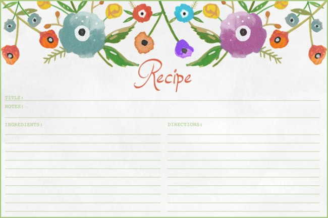 Anthropologie Inspired Recipe Card