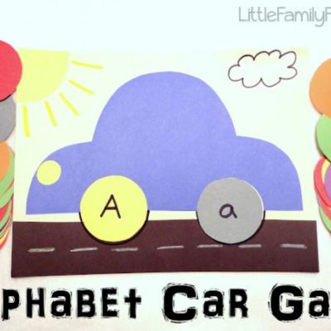 Alphabet Car Game Activity