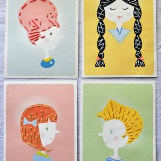 Hair Styles Sewing Cards {printable}