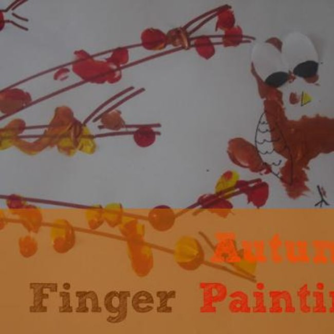 Autumn Tree Finger Painting {Thanksgiving Kids Craft}