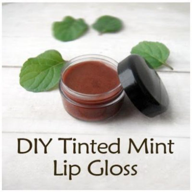 DIY Tinted Mint Lip Gloss {Recipe}