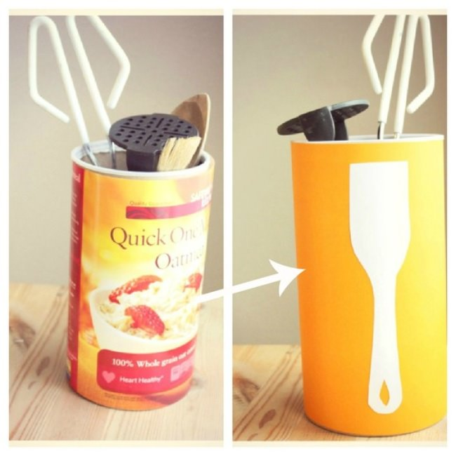 Upcycled Utensil Container