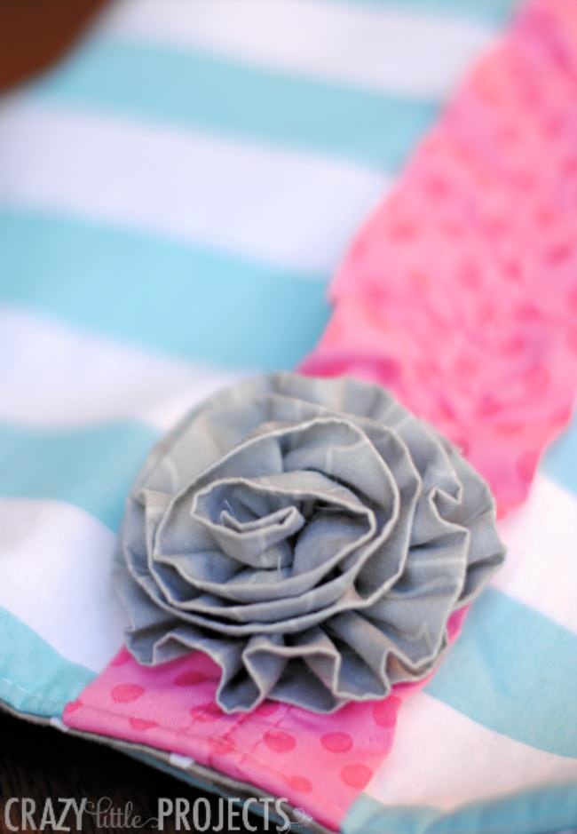 Five Minute Fabric Flowers
