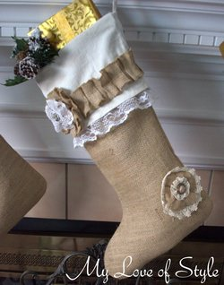 EASY DIY Burlap Stocking Tutorial