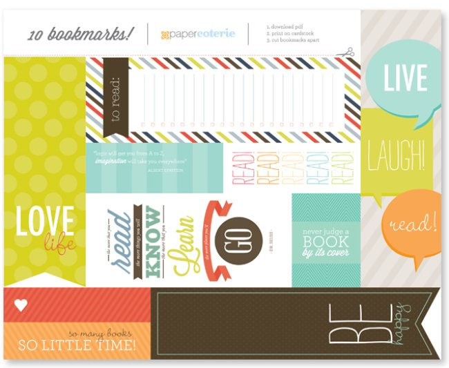 80 Free Printable Bookmarks to Make